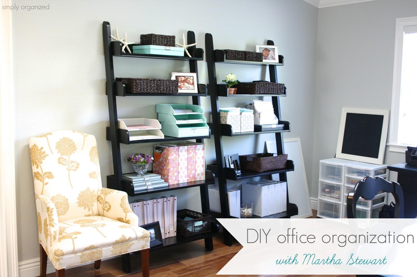 simply organized: DIY office organization - with Martha ...