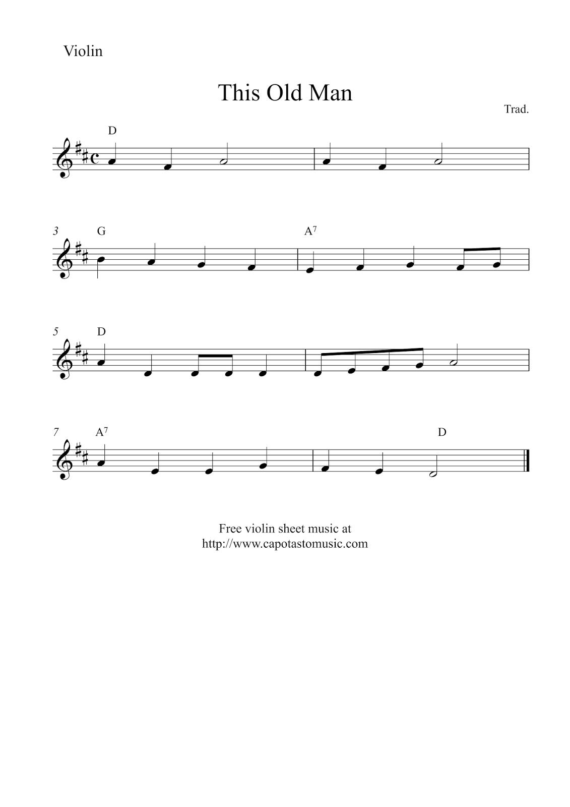 Sheet Music Violin Beginner