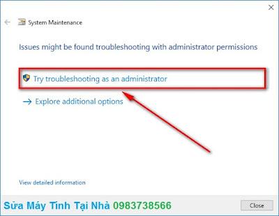 Tìm và sửa lỗi hệ thống trong Windows 10