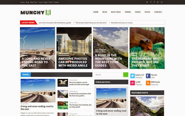 Munchy Mag Blogger Template