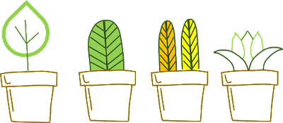 Flower Pots Clipart, Nature Cliparts, School Printables, Free Clipart