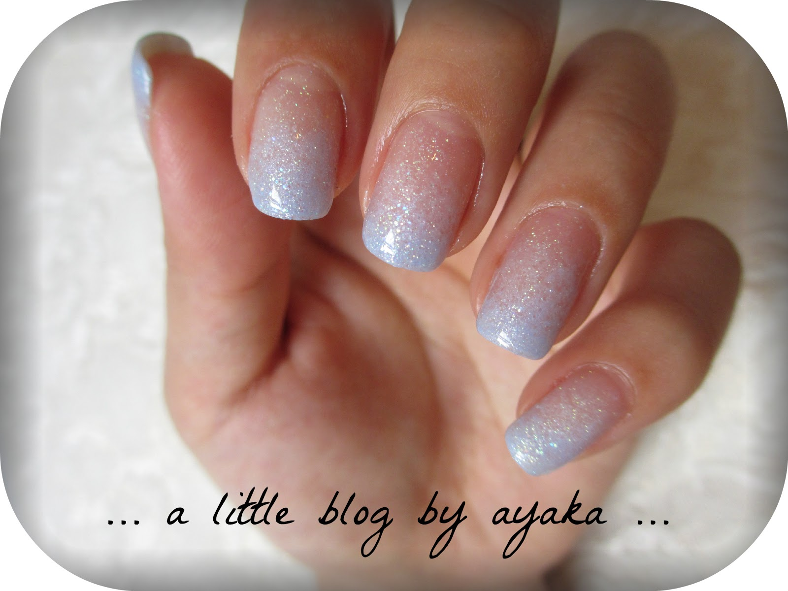 a little blog by ayaka    : blue ombre nails