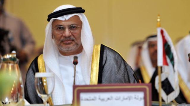 وزير الشئون الخارجية فى الامارات يندد بإستغاثة قطر بدول أجنبية