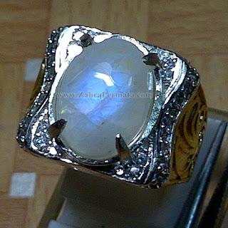 Cincin Batu Permata Moonstone - ZP 865