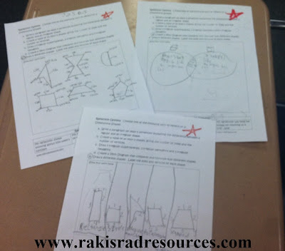 Teaching geometry to second graders - shape art, interactive notebook pages, videos and songs. All suggestions from Raki's Rad Resources.