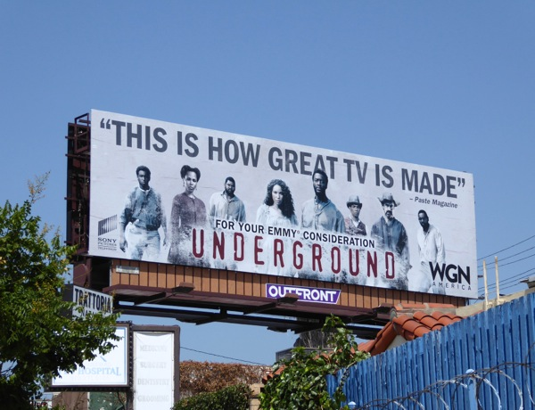 Underground 2016 Emmy consideration billboard