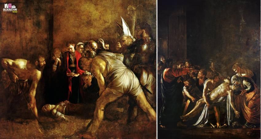 Caravaggio - Seppellimento di Santa Lucia e Resurrezione di Lazzaro