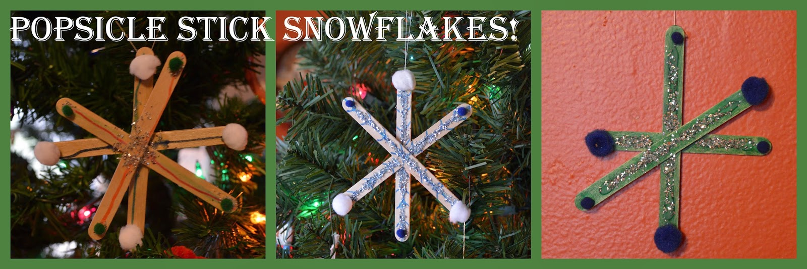 Popsicle Stick Snowflakes @ whatilivefor.net