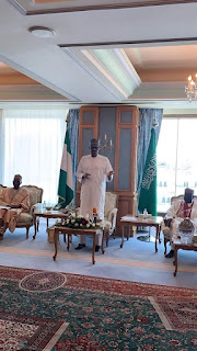 President Buhari Meets With Nigerian Leaders In Saudi Arabia[Photos]