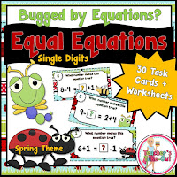 Spring Equations Addition and Subtraction Single Digits