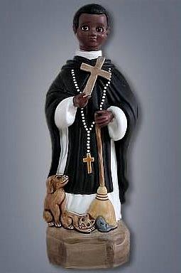 Imagen de la cerámica de San Martín de Porres