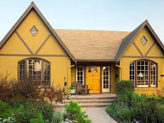 Contoh Cat Depan Rumah Stunning Mustard