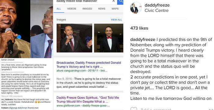 I predicted Pastor Adeboye will retire - Freeze