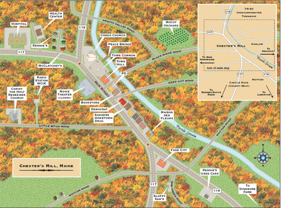 Lovell Maine Map.Movies Made Me Stephen King S Maine Day 5 Bridgton Lovell