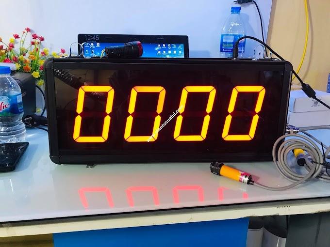 Bộ đếm sản phẩm 4 số led 4 inch có còi báo