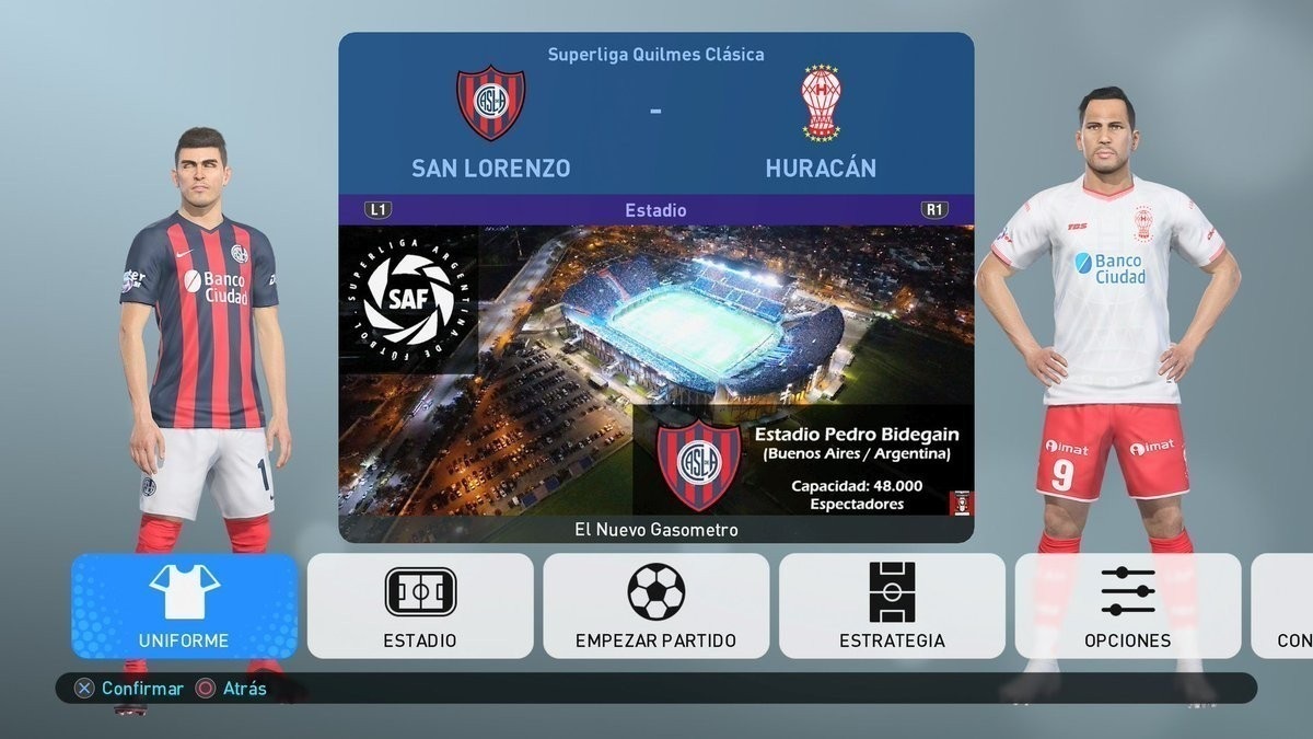 ultigamerz: PES 2019 [PC/PS4] Option File Superliga Argentina