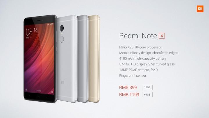Spesifikasi Xiaomi Redmi Note 4 Den