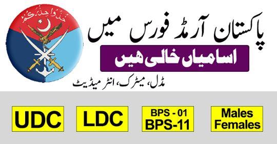 Pakistan Armed Forces Govt of Pakistan Jobs Apply Online Latest Advertisement