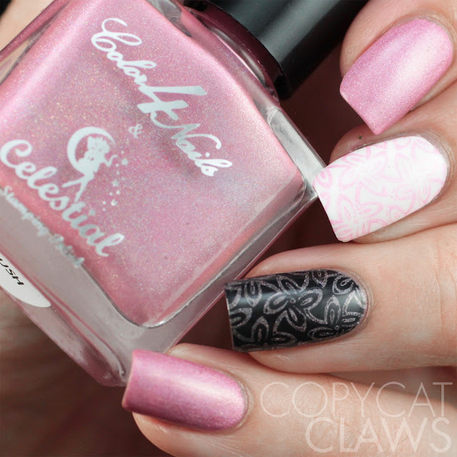 Color4Nails + Celestial Cosmetics Holographic Stamping Polish - Blush