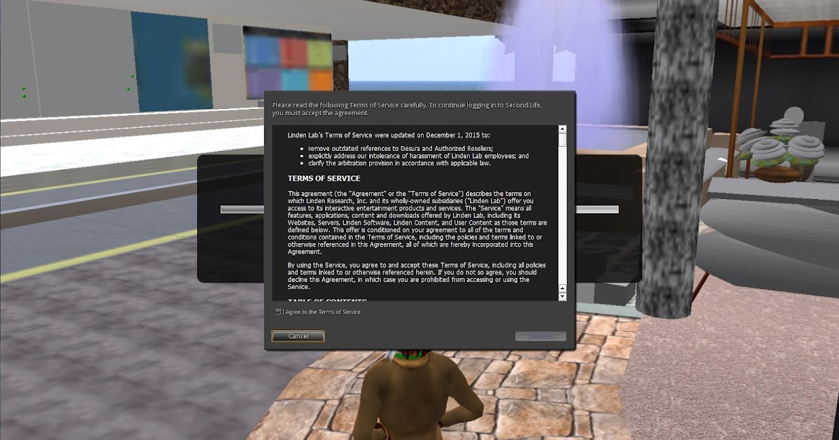 Second Life Newser: News and Commentary: New Terms of Service
