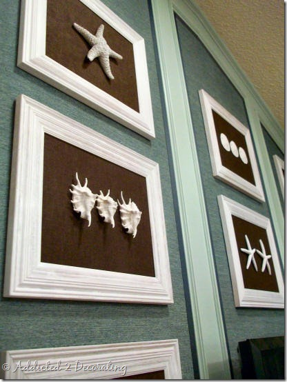 Bathroom Framed Wall Decor: Framed Starfish And Shells