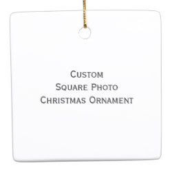 Custom Square Photo Christmas Ornament