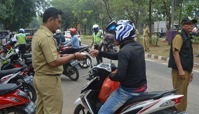 Samsat Balaraja Gelar Razia Kendaraan Penunggak Pajak