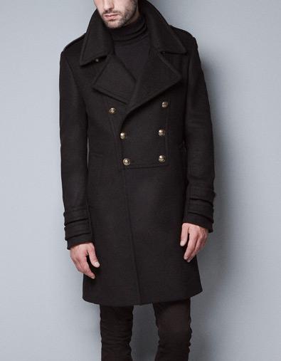 Abrigo militar de Zara Un tipo con clase. Moda hombre