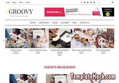 groovy blogger template