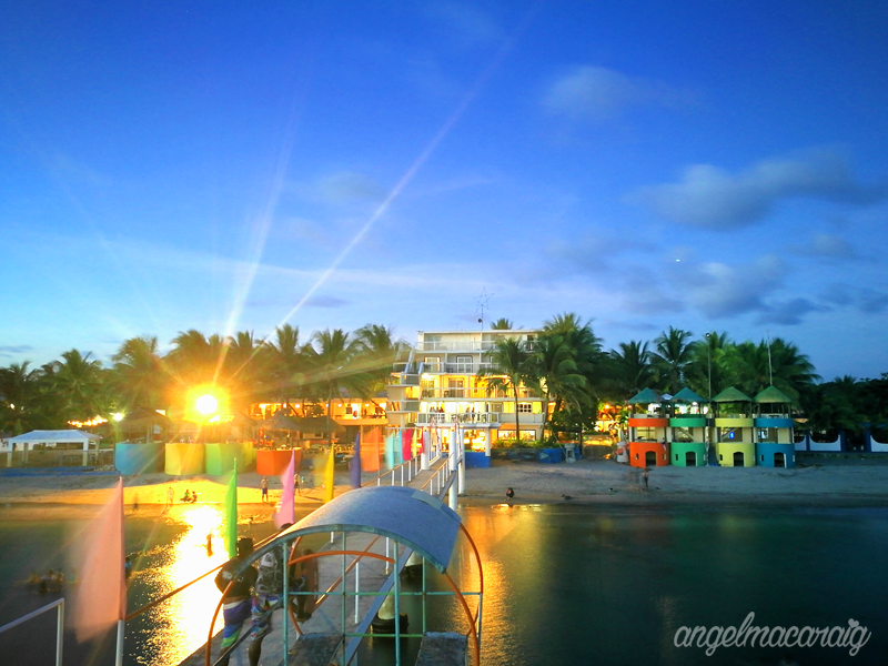 The colorful view of the beach and resort from the other side!