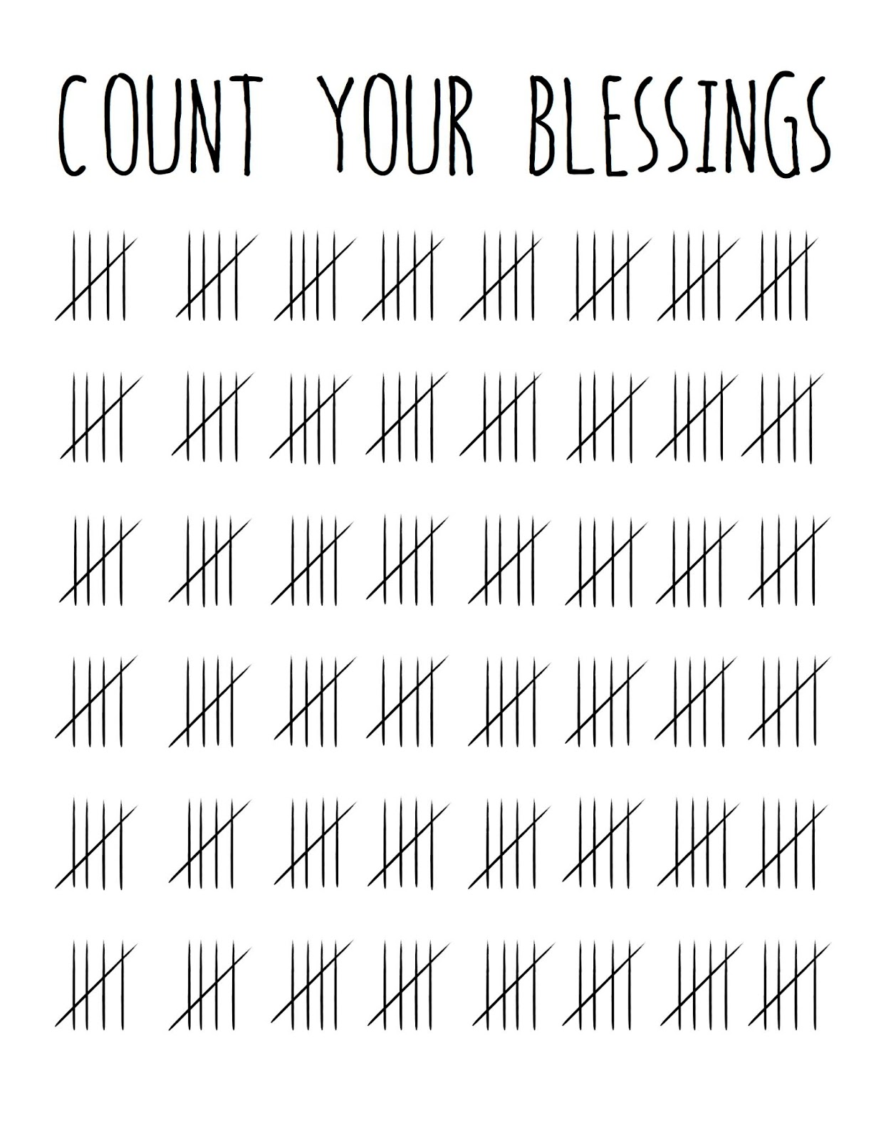 Grey Birch Designs Free Count Your Blessings Printable