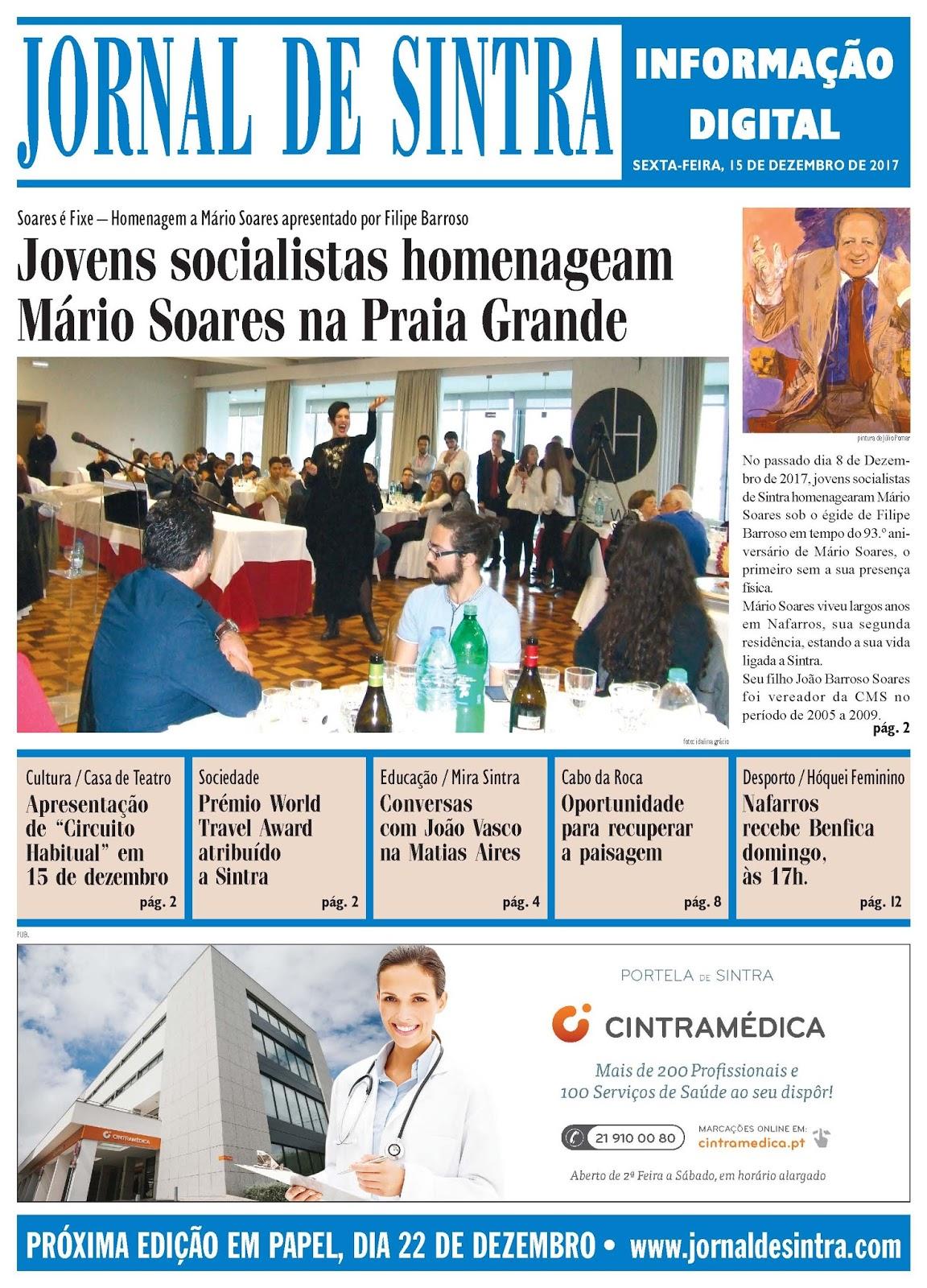 Capa da edição de 15-12-2017