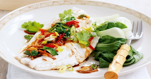 Steamed Fish With Ginger And Cilantro Recipe