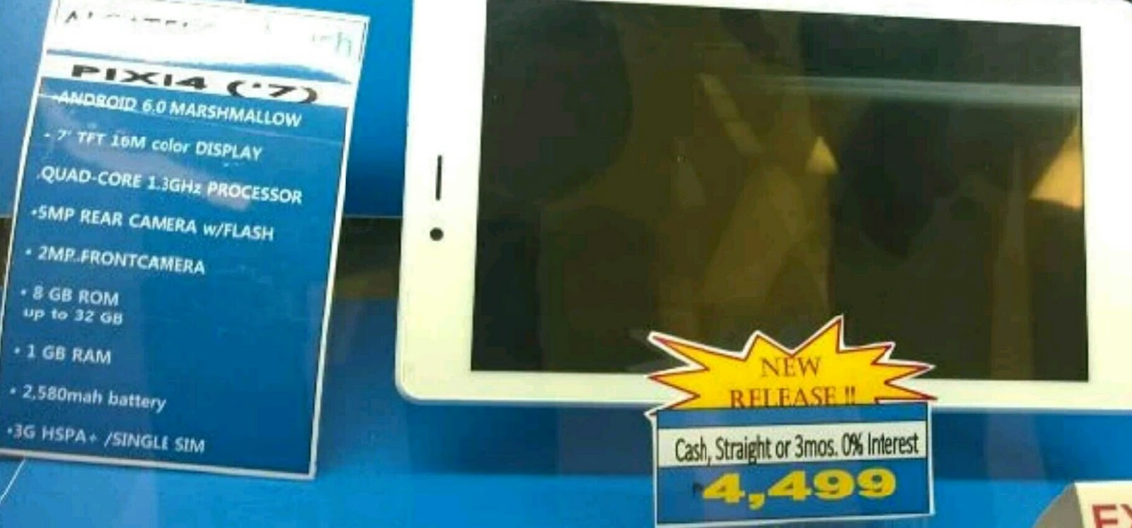 Alcatel Pixi 4 7 3G tablet spotted in the wild