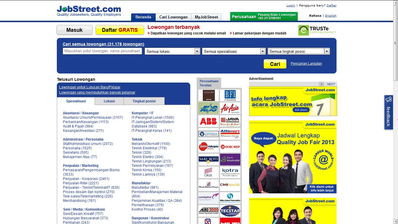 Blog'ku: jobsDB & JobStreet
