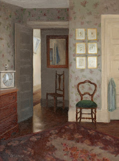 interior scene, oil painting