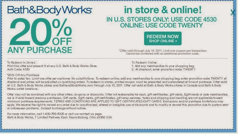 coupons for bed and bath body works