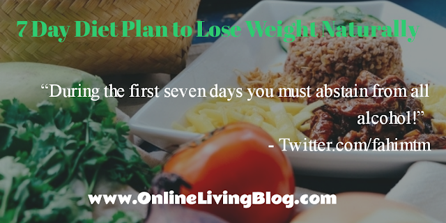 7 Day Diet Plan to Lose Weight Naturally