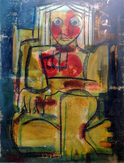 Antonio garcía Patiño óleo sobre lienzo cubismo