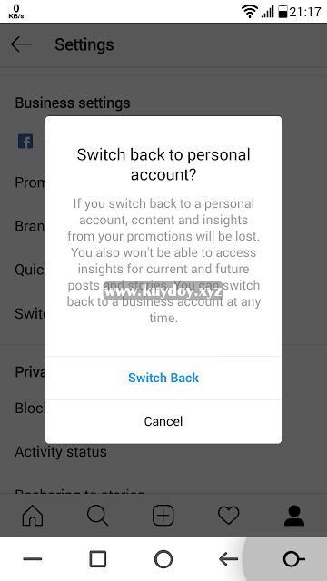Cara Mengembalikan Akun Bisnis Instagram Ke Akun Biasa