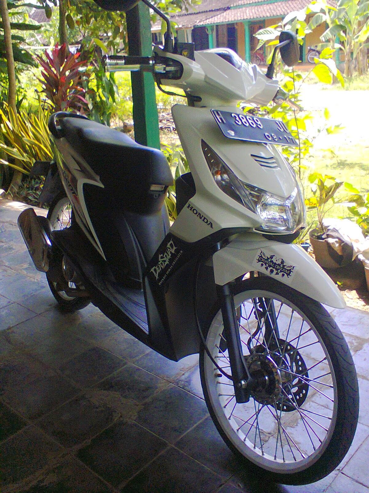 Modif Honda Beat Keluaran Terbaru New Street Esp White Salatiga Koleksi Foto Modifikasi Motor Baru Gubuk
