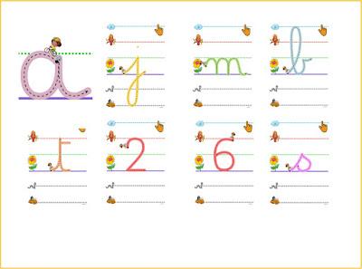 Ecrire en attaché, suite le trajet d'une lettre avec son doigt