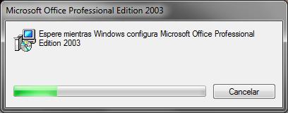 Microsoft Office 2003 Instalación Setup