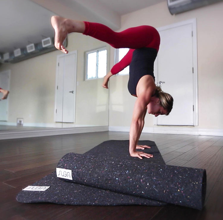 Interview with the founder of eco friendly yoga mat, Suga, made from recycled wetsuits. Via @eleanormayc