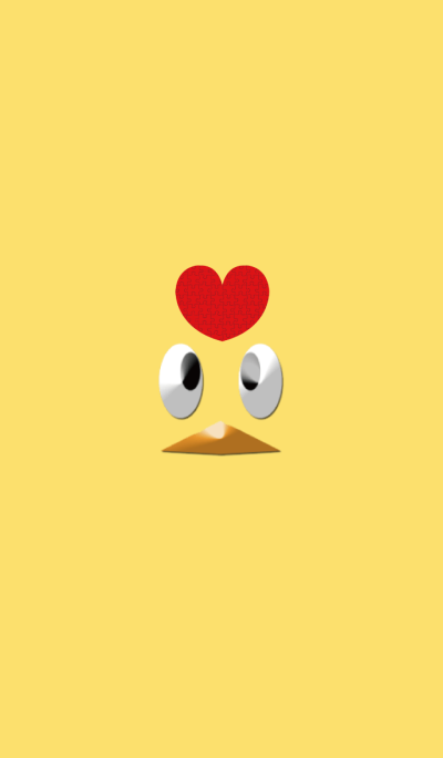 Yellow bird face
