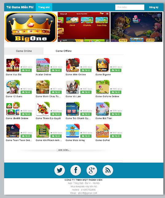 Template blogspot wap game chuẩn SEO