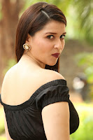 Mannara Chopra in Short Off Shoulder Black Dress ~  Exclusive 039.JPG