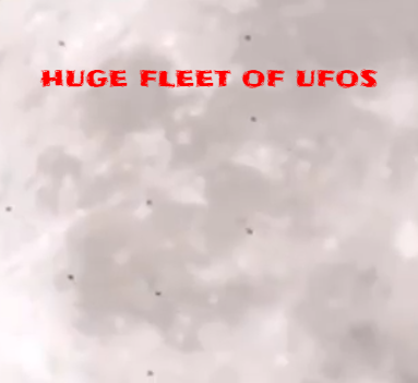 We counted at least 30 UFOs crossing the Moon.