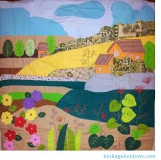 Karya lukisan dari kain perca - berbagaireviews.com