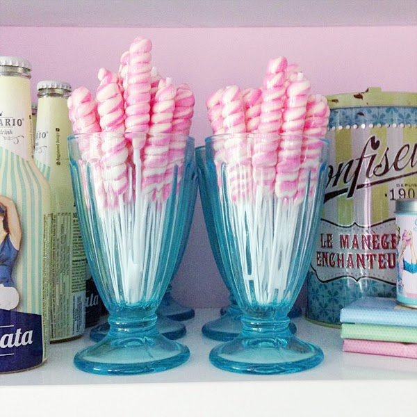 Super sweet candy! Retro Pastel Kitchen Colors That'll Make You Squeal!